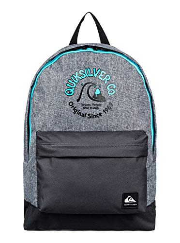 Quiksilver Everyday Poster - Mochila Mediana Para Chicos 8-16 Mochila Mediana, Niños, light grey heather, 1SZ