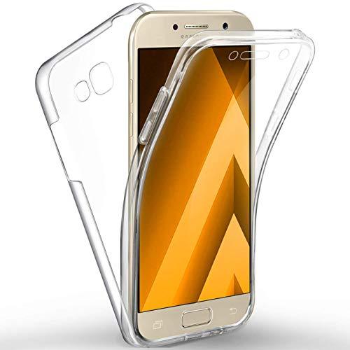 HongMan 360°Full Body Funda para Samsung Galaxy S6 Edge, Ultra Slim Doble Cara Carcasa Protector Transparente TPU Silicona + PC Dura Resistente Anti-Arañazos Protectora Case Cover