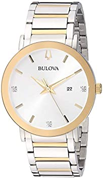 Bulova Diamond Silver Dial Men's Watch