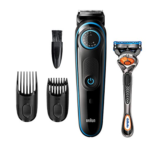 Braun Beard Trimmer BT5240, Hair Clippers for Men, Cordless & Rechargeable with Gillette ProGlide Razor