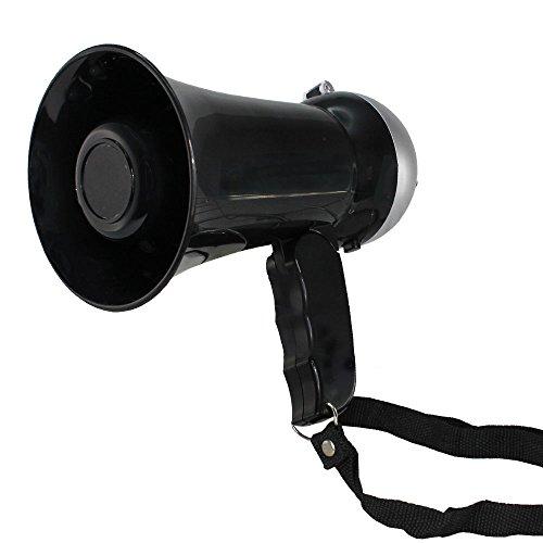 Mini Megáfono–10W–Altavoz y sirena–Volume ajustable