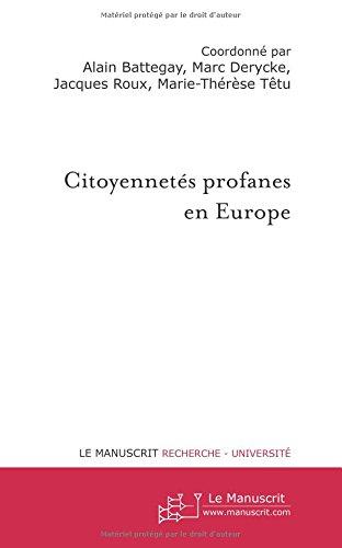 Citoyennetés profanes en Europe