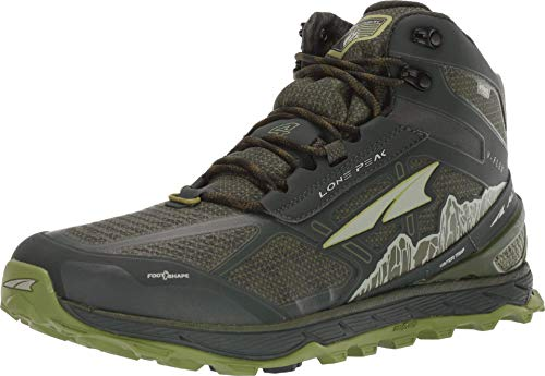 ALTRA Men's ALM1855N Lone Peak 4 Mid RSM Waterproof Trail Running Shoe, Deep Forest - 7 M US