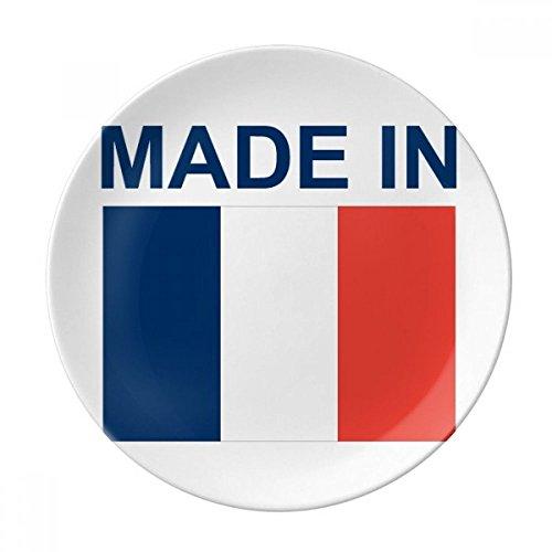 DIYthinker Made in France Pays Amour décoratif Porcelaine Assiette à Dessert 8 Pouces Dîner Accueil Cadeau 21cm diamètre Multicolor