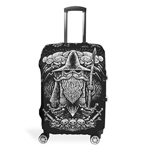 Viking God Odin Spear Ravens Wolves - Funda para maleta, lavable, antiarañazos, diseño de lanza, White (Blanco) - Muerlinanajj768