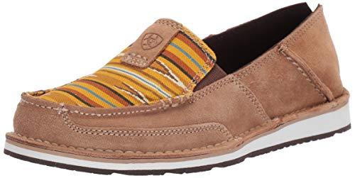 Ariat Women's Cruiser Slip-on Shoe, dark tan/mustard navajo, 7.5 B US