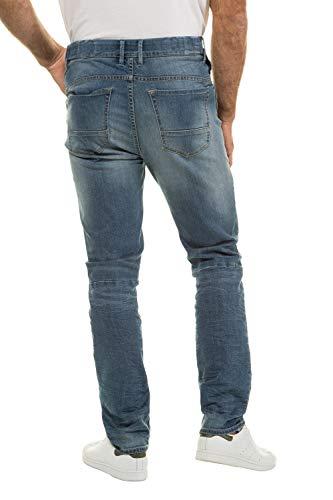 JP 1880 Herren große Größen bis 70, Jeanshose, Hose mit elastischen Gummieinsätze, Straight Fit, Denim, 5-Pocket, Travellar-Bund Light Blue Stone 64 718213 72-64