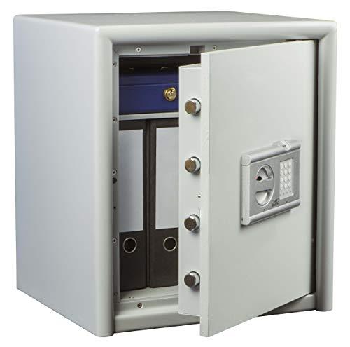 Burg-Wächter Sicherheitsschrank mit elektronischem Zahlenschloss und Fingerscan, Sicherheitsstufe S 2, Combi-Line CL 40 E FS, Weiß