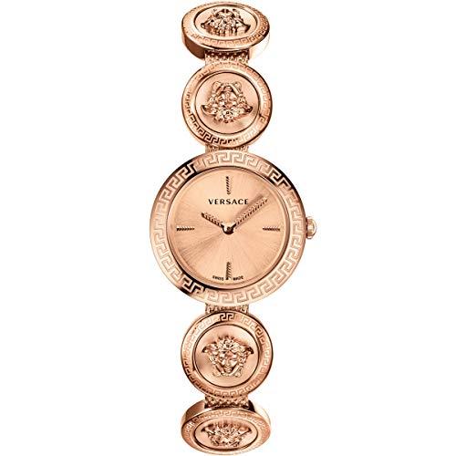 Versace Damen Armbanduhr MEDUSA STUD IC.D MEDUSA-ROSE GOLD VERF009 18