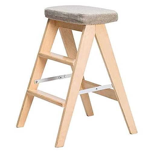 Taburete de escalera portátil Taburete familiar simple - Taburete auxiliar de cocina - Plegable para niños pequeños, seguridad para niños pequeños, torre de cocina, muebles de aprendizaje, taburete