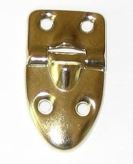 10 (5 Pair) Teardrop Decorative Hinge with Stop Brass Plated W/screws