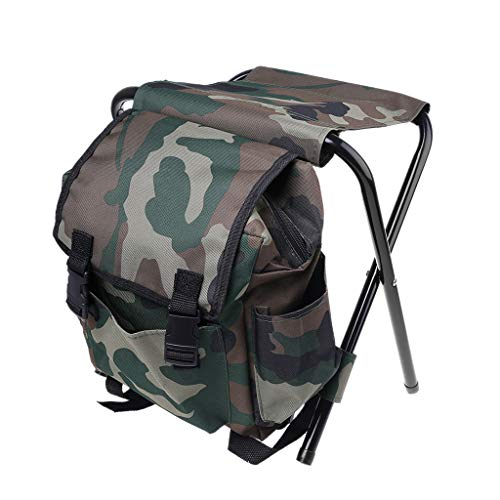 Gjyia Ultralight opvouwbare campingstoel, rugzakkruk compacte lichtgewicht tas voor vissen reizen wandelen strand