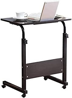 Computer Student Laptop Desk Height Adjustable Wooden Laptop Table Computer Standing Desk with Tablet iPad Slot Mobile Wor...