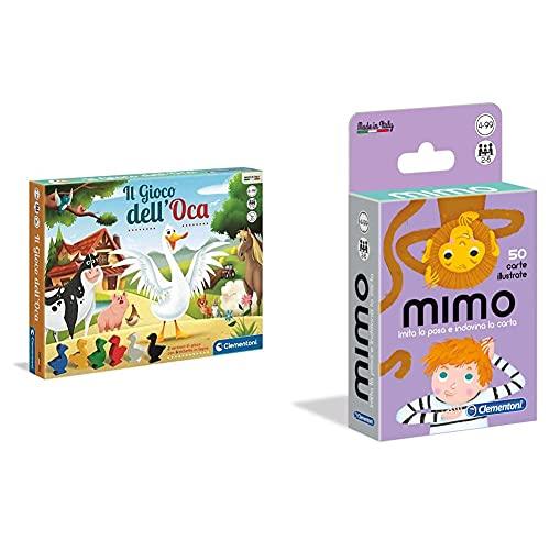 Clementoni - Dell'Oca Gioco Da Tavolo Colore Multicolore, 12927 & - Mimo, Carte Da Gioco Per Bambini, Multicolore, 16174