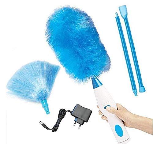 Marbeine - Cepillo de limpieza eléctrico eléctrico (360º, recargable, plumero eléctrico, inalámbrico, cepillo de empujador, para casa, oficina, color azul