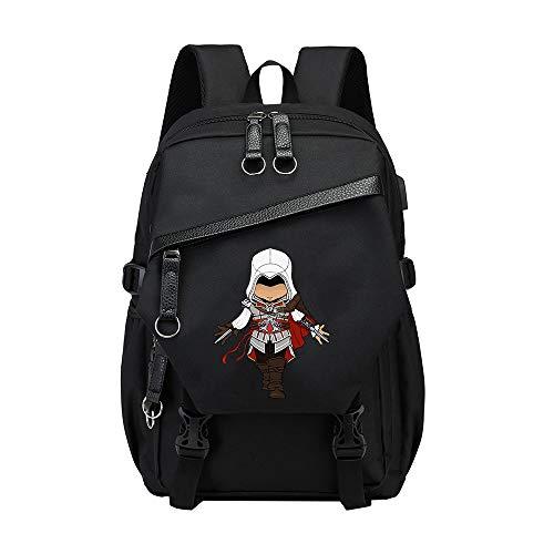 Assassin's Creed Kinderrucksäcke Casual wilde Rucksack Fashion Rucksack Einfach Studentenwasserdicht Leichte große Kapazitäts-Rucksack Leinwand der klassischen Kinder-Rucksack Personality Trend Kinder