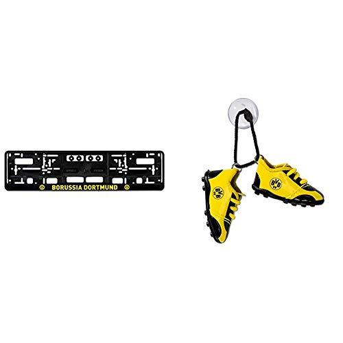 Borussia Dortmund-Kennzeichenverstärker & 17150900 Autoschuhe, SCHWARZ, one Size
