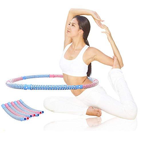 JINQI 76 Cm di Diametro Hula Hoop per Adulti Fitness Hula Hoop Heavy Bead Hoop 7 Segmenti Anello da Ginnastica Rimovibile per Principianti Attrezzatura per Esercizi Dimagranti