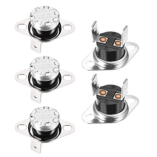 uxcell KSD301 Thermostat 65°C/149°F 10A Normally Open N.O Adjust Snap Disc Temperature Switch for Microwave Oven Coffee Maker 5pcs