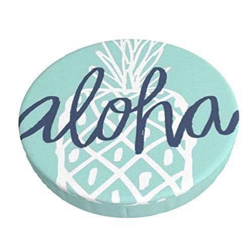 Fodera per Cuscino per Sedia da Bar Rotondo Fodera per Sgabello Traspirante Lavabile, Fodera per Sgabello da Bar Aloha Ananas Fodera per Sgabello Elastico 13 Pollici