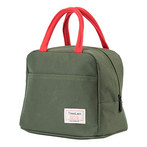 Insulated Lunch Bag for Women,Lunch Holder Insulated Lunch Tote Bag,Student Thermal Bag and Lunch Cooler Box (Green)