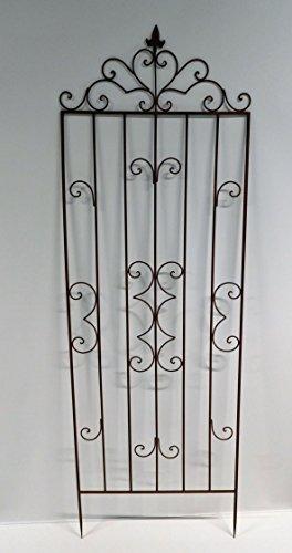 2 x Rankgitter Rankhilfe Zaunelement Zaun Spalier Metall 163 cm x 60 cm SW150488RV (2)