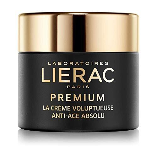 Lierac Premium La Crème Voluptueuse, Crema Viso Ricca, Anti-Età Globale con Acido Ialuronico per Rughe profonde, adatta alla Pelle Secca. Formato da 50ml