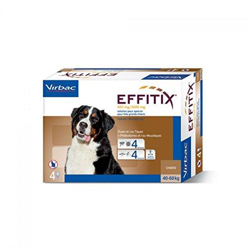 Virbac Effetix Effitix Spot-on Soluzione 4 Pipette 6,60 Ml Cani da 40 a 60 kg