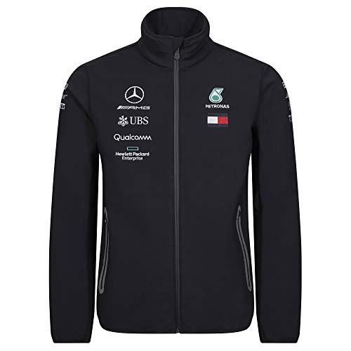 Official Formula 1 Merchandise | Männer | Offizielle Mercedes-AMG Petronas Motorsport 2019 F1™ | Team Softshell Jacke | Schwarz | Polyester | Größe: XXL