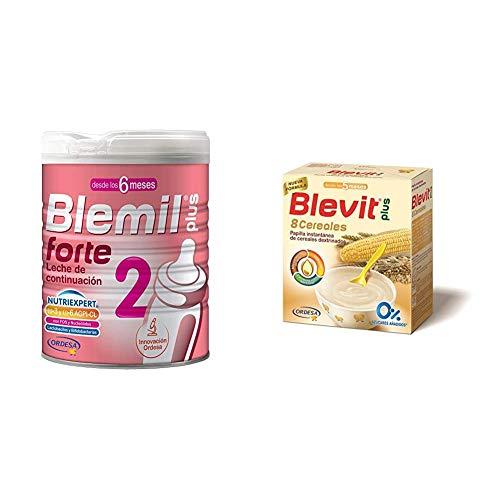 Blemil Plus Forte 2 Leche - 800 g + Blevit Plus 8 Cereales para bebé - 600 g