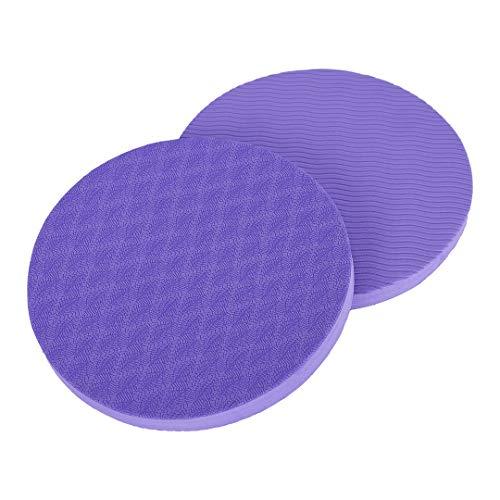 KSS - Alfombrilla Eco para entrenamiento de yoga con apoyo para la protección de rodilla, codo, muñeca (Pack de 2), violeta