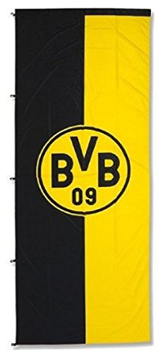 Hissflagge Borussia Dortmund Emblem - 150 x 400 cm + gratis Aufkleber, Flaggenfritze®