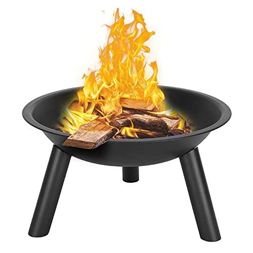 LYB Mesa multifuncional para barbacoa al aire libre, mesa de hierro para patio, villa, chimenea, brasero (color: negro)