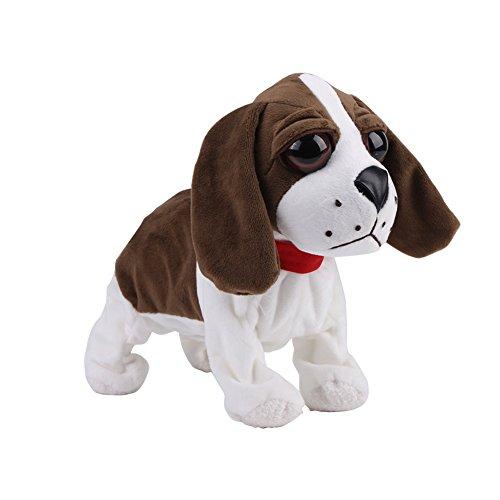 Woyisisi Lovely Plush Perro Electr¨®Nico Mascotas Control de Sonido Ni?os Juguete Interactivo (03)