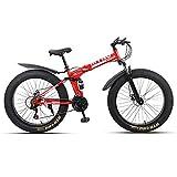 Strandfahrrad Breitreifen Schneemobil 26 Zoll Mountainbike Doppel Schmetterlingsbremse Doppelte Stoßdämpfung Outdoor Männlich und Weiblich Fahrrad mit Variabler Geschwindigkeit
