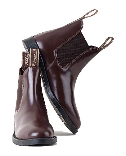 Rhinegold Comfey Classic Leder Jodhpur-Stiefel, 0, Reitstiefel aus Leder, braun, 11 uk