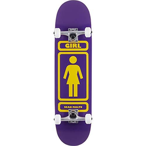 Girl Skateboards Sean Malto 93 Til パープル/イエロー 完全スケートボード - 7.87インチ x 31.5インチ