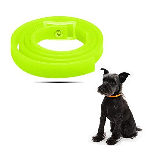 Yissma Halsband für Hunde und Katzen, Wasserdicht Hund Flohhalsband für Kleine Groß Haustiere,Natürliche & Sicherheit, natürliche Formel