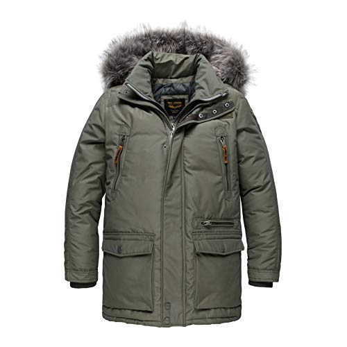 PME Legend Long Jacket Stratoliner - Winterjacke, Größe_Bekleidung:XXL, Farbe:Kalamata