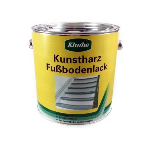 Kluthe Kunstharz Holz Fußbodenlack / Treppenlack / Dielenlack / 2,5l / hochglänzend RAL 8012 rotbraun