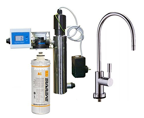 Sistema de filtración Everpure completo de UV 12W, filtro AC y grifo 1Via Terence