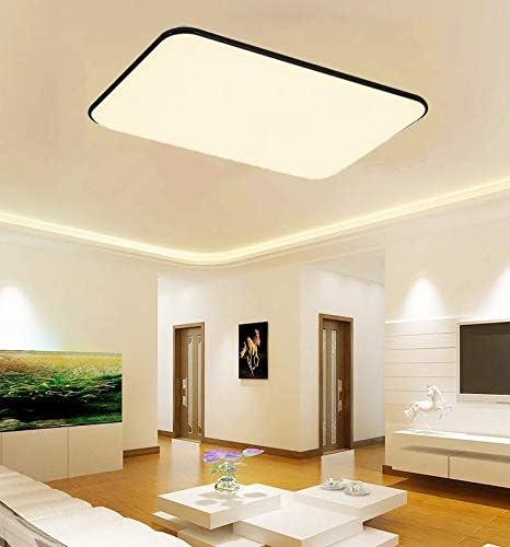 LAKIQ Black アウトレット Acrylic LED Flush Ultr Modern 新生活 Lighting Ceiling Mount