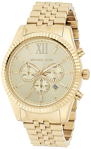 La mejor selección de Reloj Michael Kors Hombre Dorado del mes. 1
