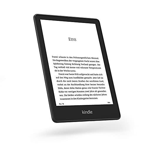 Wir stellen vor: Kindle Paperwhite Signature Edition (32 GB) – Mit 6,8 Zoll (17,3 cm) großem Bildschirm, kabelloser Ladefunktion & Frontlicht mit automatischer Anpassung – ohne Werbung