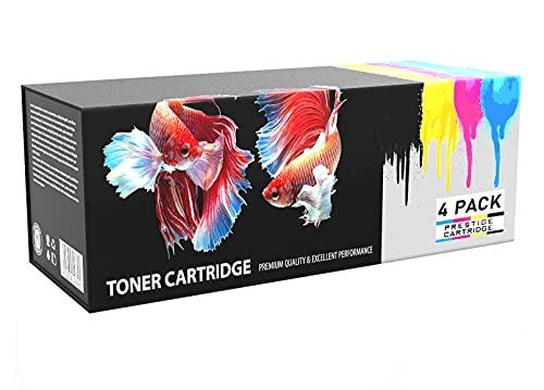 Prestige Cartridge 508/620 - Pack de 4 cartuchos de tóner láser para Samsung CLP-670/CLX-6220FX/CLX-6250FX, tricolor y negro