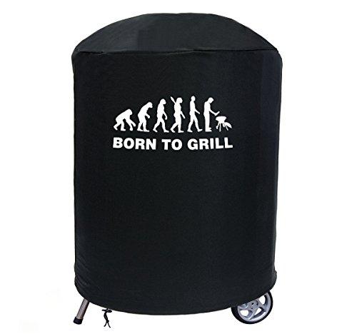 Copertura Barbecue Rotondo Coperchio per griglia Copri-Capote Impermeabile Protettivo BBQ Ovale Piccolo 59-69 cm x 90 cm Nato per Griglia [084]