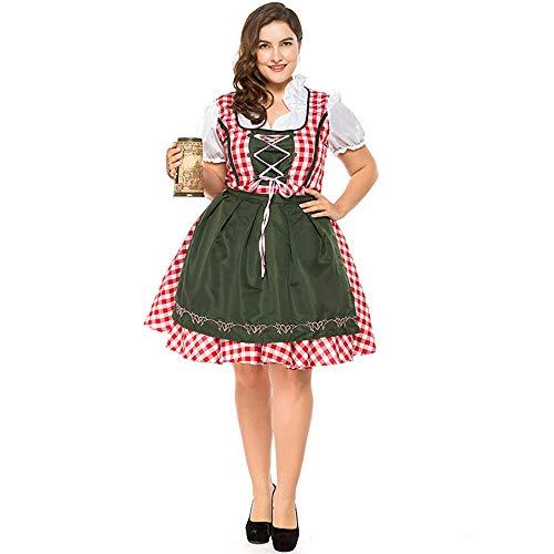Deutsches Oktoberfest Fett Mann Geladen Bier Kleid Kleid Holiday Party Ball Partykleid Große Größe,Natural,XXL