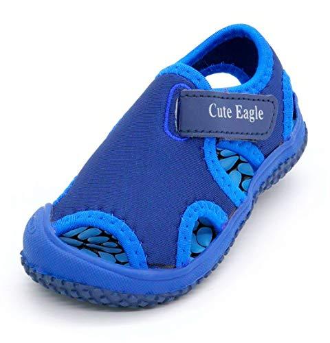 Children's Kids Sports Sandals Summer Outdoor Open Toe Beach Sandals Water Shoes for Boys Girls, Blue, 7.5 Toddler