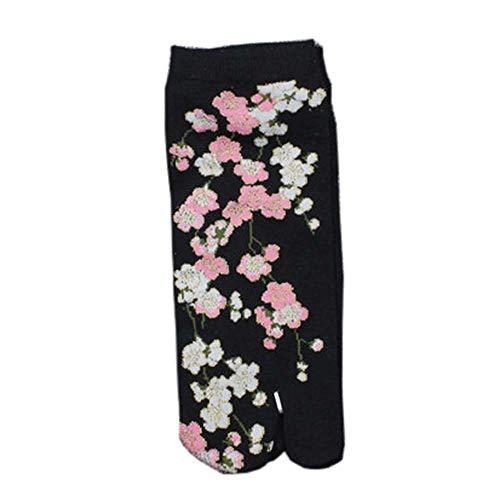 Fancy Pumpkin Kimono-Sandale im japanischen Stil Split Toe Tabi Ninja Geta Socken Kimono-Socken # 05