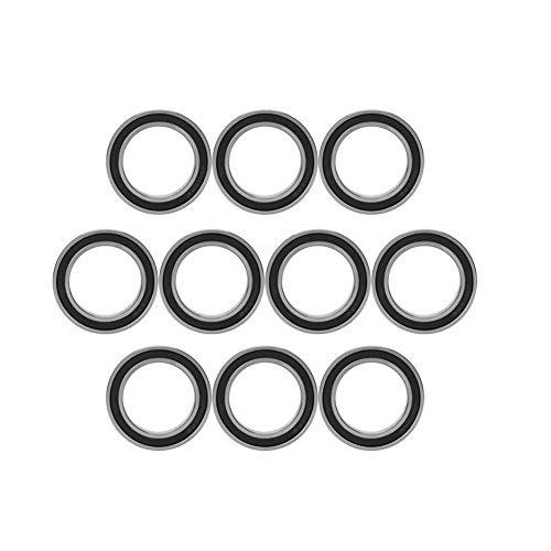 Rodamiento de bolas, 10 piezas 6805-2RS Rodamiento de metal Rodamientos de bolas de ranura profunda sellados de goma Rodamiento sellado de 25 mm * 37 mm * 7 mm